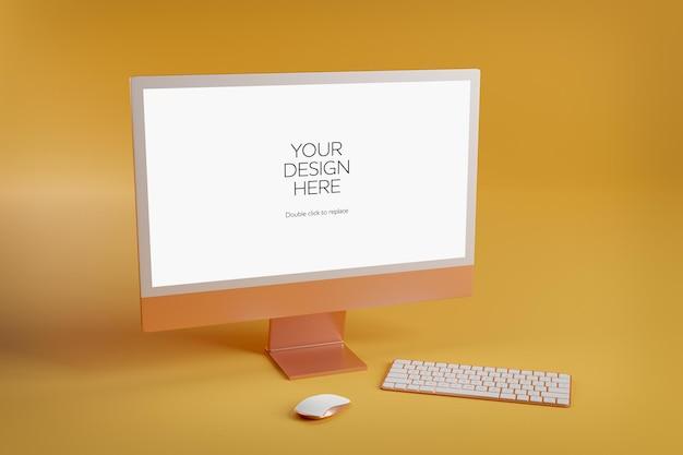 Maquete de dispositivos isolados - renderização em 3d
