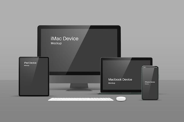 Maquete de dispositivos modernos responsivos