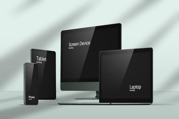 Maquete de dispositivos modernos