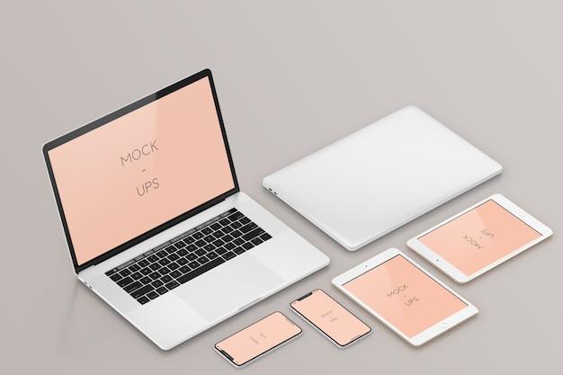 Maquete de dispositivos Psd Premium