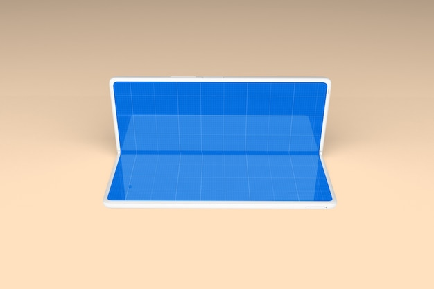 Maquete de dobra limpa para celular