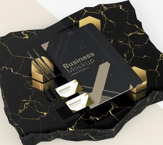 Maquete de documentos comerciais de papelaria