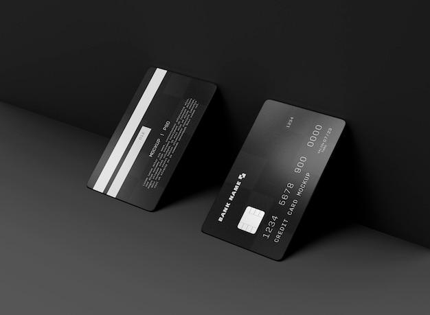 Maquete de dois cartões de crédito