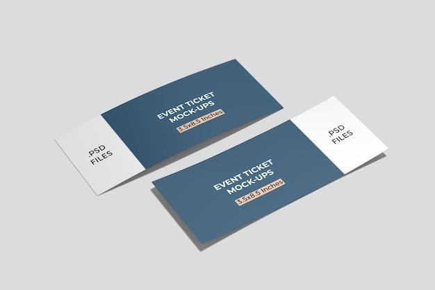 Maquete de dois cartões de embarque