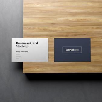 Maquete de dois cartões de visita
