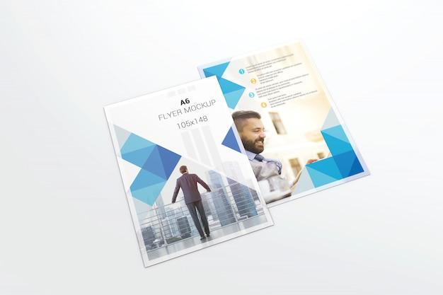 Maquete de dois panfletos
