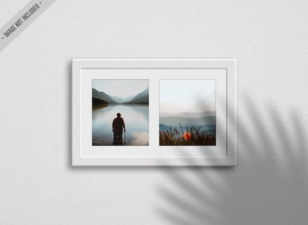 Maquete de dois quadros no interior da sala de estar