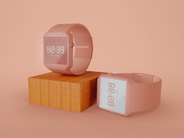 Maquete de dois relógios inteligentes