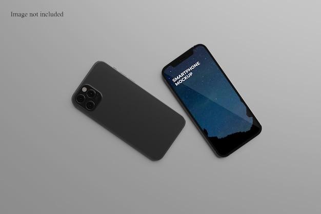 Maquete de dois smartphones modernos