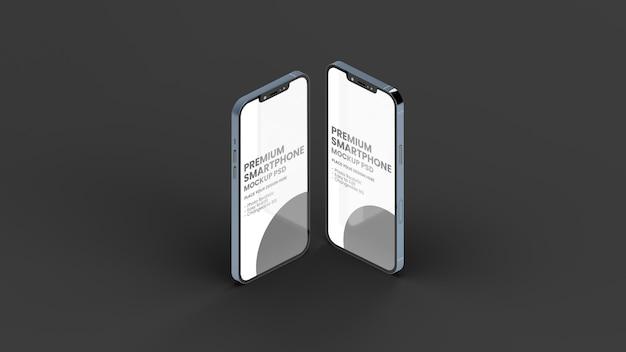 Maquete de dois smartphones pro max