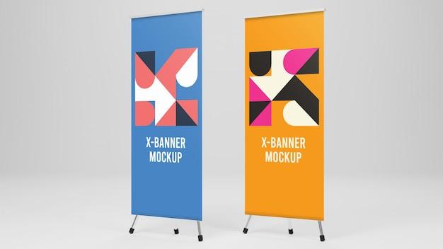 Maquete de dois x-banner