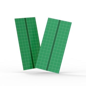 Maquete de duas brochuras texturizadas