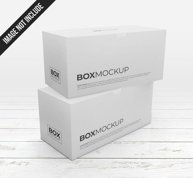 Maquete de duas caixas