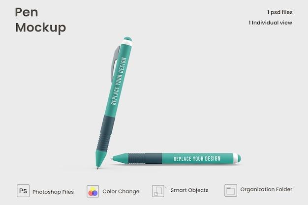 Maquete de duas canetas psd premium