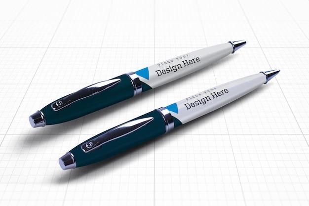Maquete de duas canetas