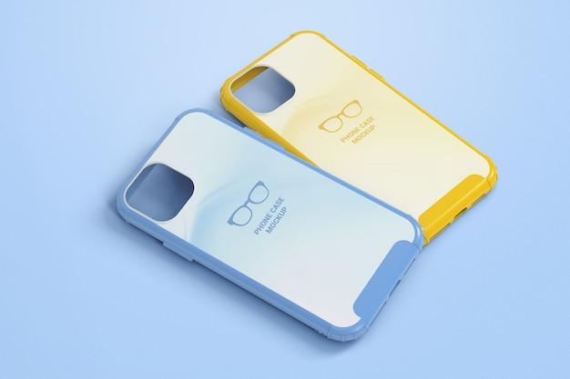 Maquete de duas capas de telefone