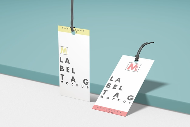 Maquete de duas etiquetas de moda