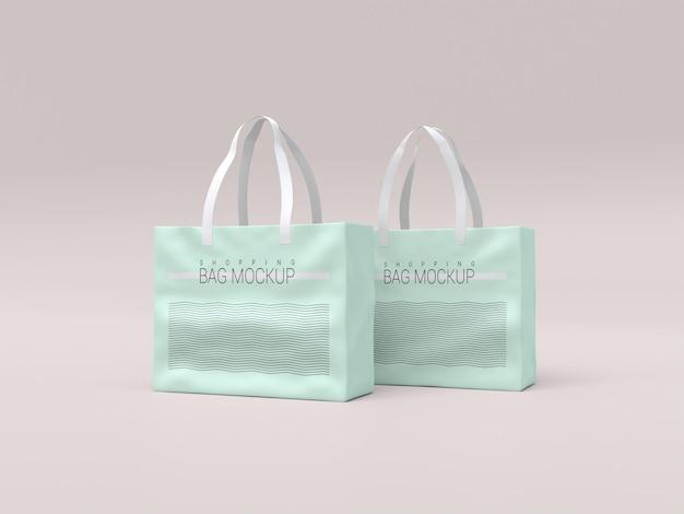 Maquete de duas sacolas de compras