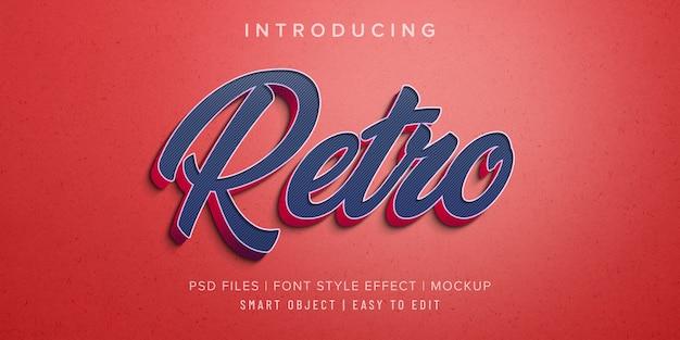 Maquete de efeito de estilo de fonte 3d retrô
