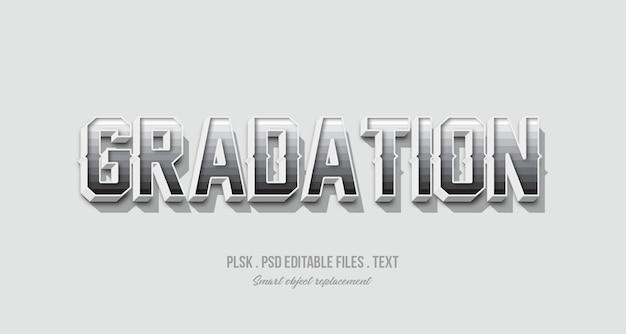 Maquete de efeito de estilo de texto 3d de gradação
