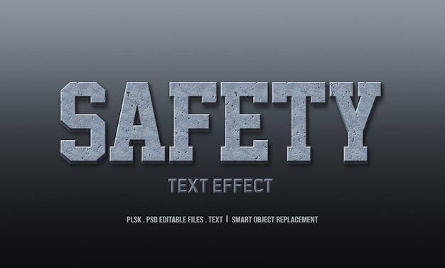 Maquete de efeito de estilo de texto 3d de segurança