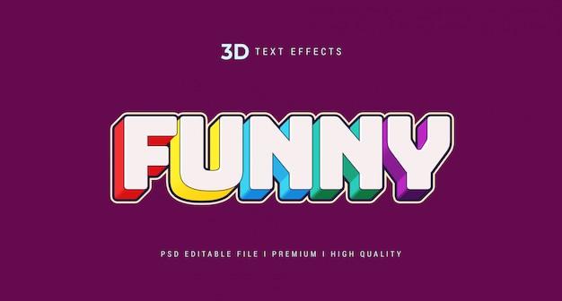 Maquete de efeito de estilo de texto 3d engraçado