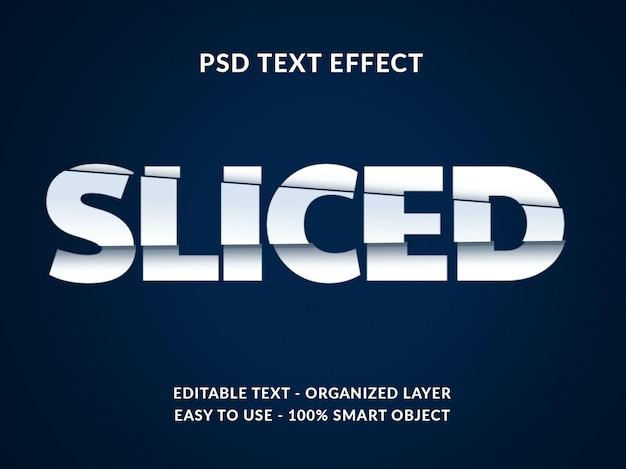 Maquete de efeito de estilo de texto 3d fatiado com estilo de corte de papel
