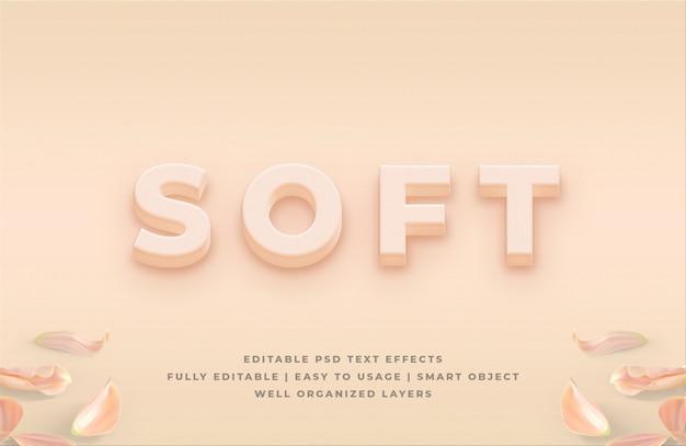 Maquete de efeito de estilo de texto 3d macio