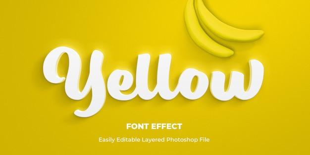 Maquete de efeito de estilo de texto branco 3d