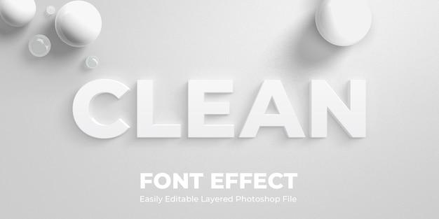 Maquete de efeito de estilo de texto branco