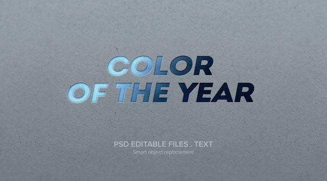 Maquete de efeito de estilo de texto tipografia 3d