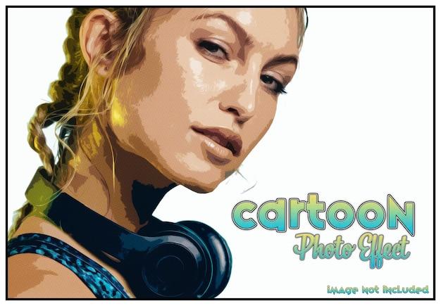 Maquete de efeito de foto de quadrinhos desenhos animados