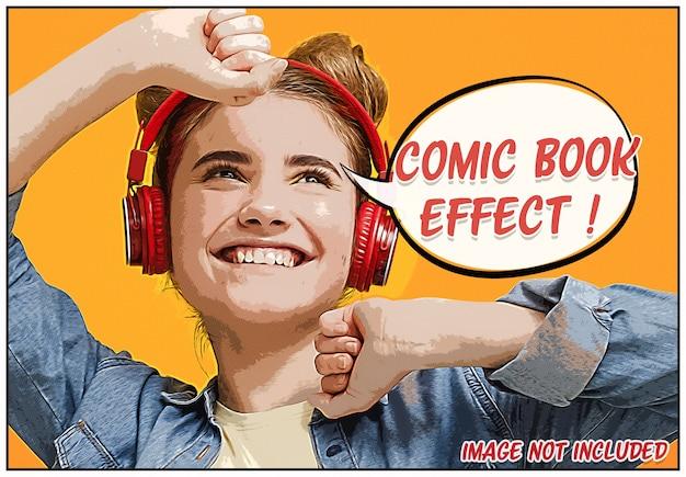 Maquete de efeito de foto de quadrinhos