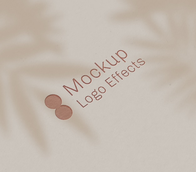 Maquete de efeito de logotipo de tipografia