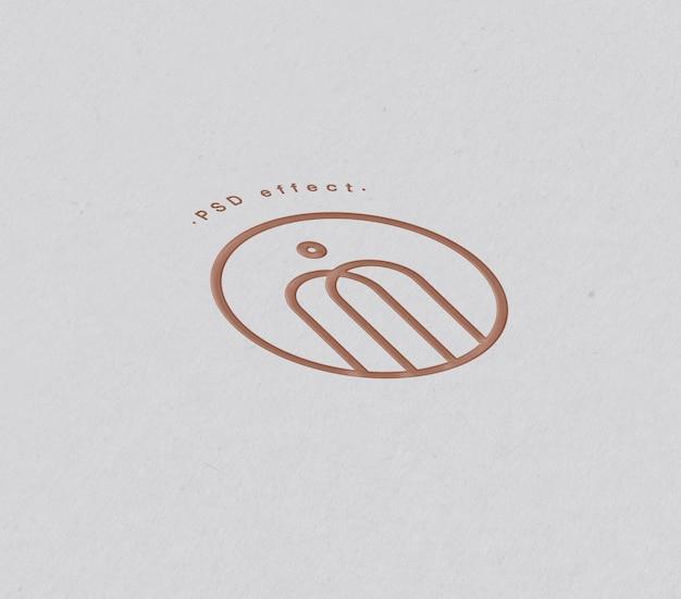 Maquete de efeito de logotipo e texto em papel