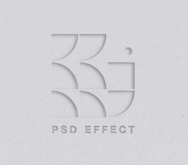 Maquete de efeito de logotipo recortado de papel
