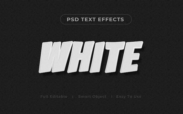 Maquete de efeito de texto 3d branco