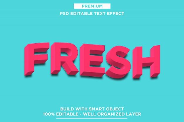 Maquete de efeito de texto 3d fresco