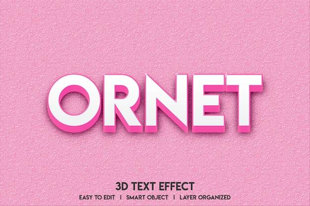Maquete de efeito de texto 3d