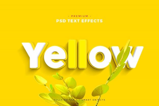 Maquete de efeito de texto amarelo