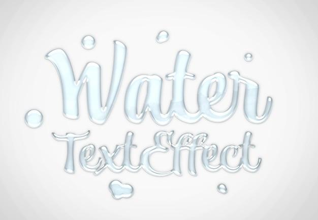 Maquete de efeito de texto aquático