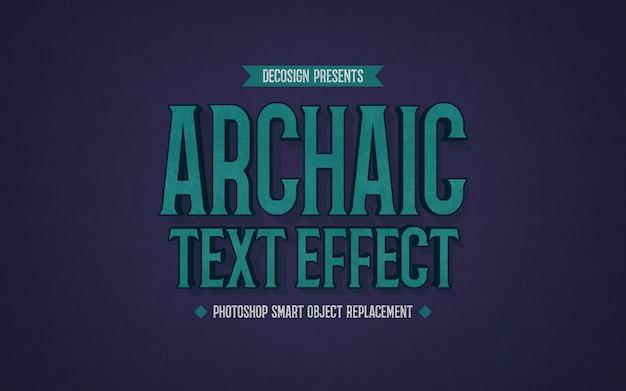 Maquete de efeito de texto arcaico