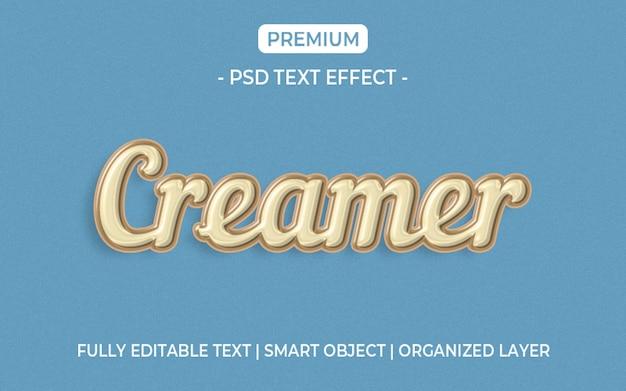 Maquete de efeito de texto creamer