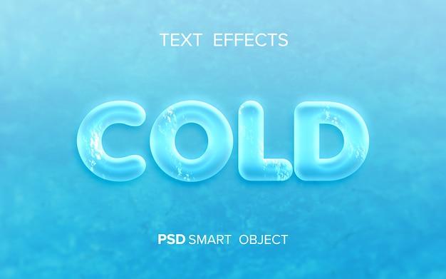 Maquete de efeito de texto de água