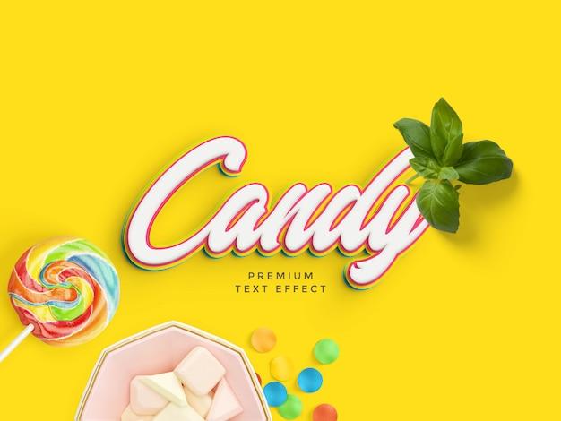 Maquete de efeito de texto de doces