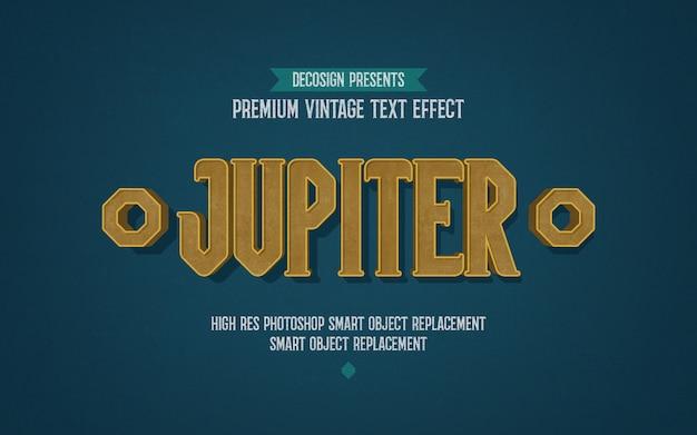 Maquete de efeito de texto de júpiter vintage