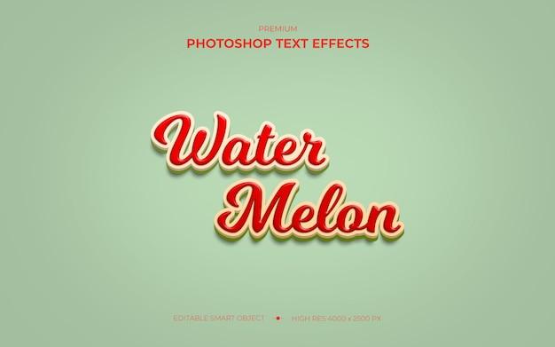 Maquete de efeito de texto de melancia