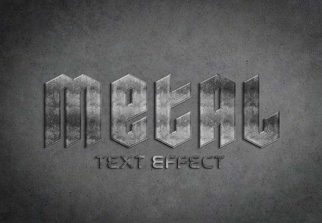 Maquete de efeito de texto de metal