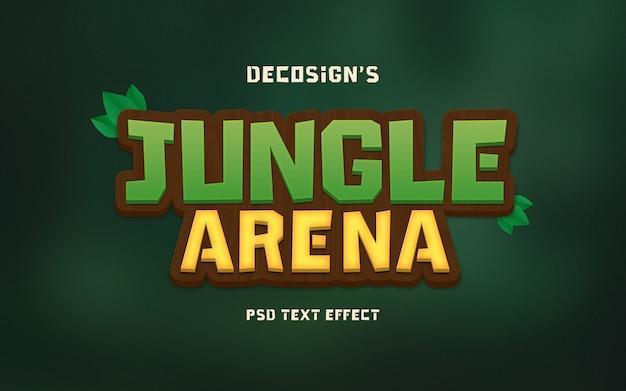 Maquete de efeito de texto de selva arena
