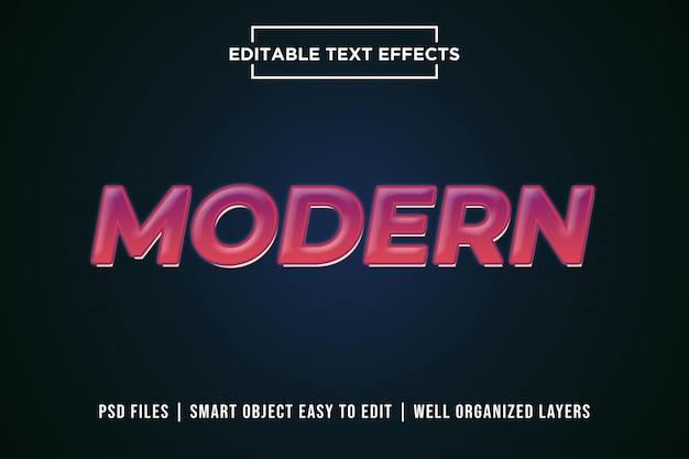 Maquete de efeito de texto editável gradiente moderno